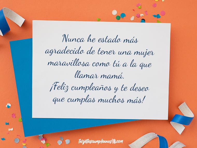 feliz cumpleaños madre gracias