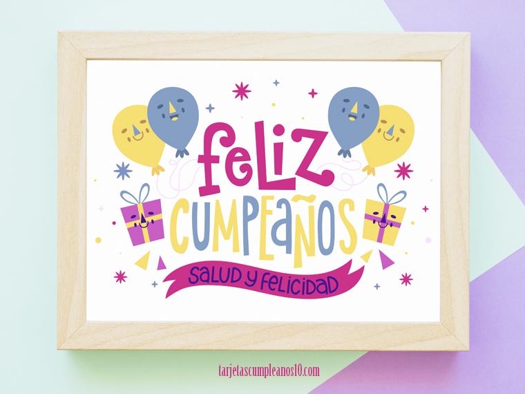 feliz cumpleaños mamá salud y felicidad